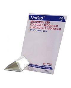 "Dupad Sterile Abdominal Pads, Sealed End, 8"" X 10"" Part No. 87810 (1/ea)"
