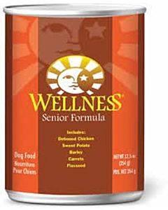 Wellness Pet Products Dog Food - Senior Recipe - Case Of 12 - 12.5 Oz.