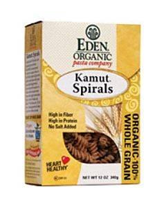 Eden Foods Organic Whole Kamut Spirals - Case Of 6 - 12 Oz.