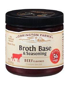 Orrington Farms Broth Base And Seasoning - Beef - Case Of 6 - 12 Oz.