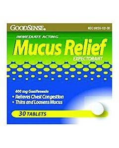 Mucus Relief Expectorant Tablet (30 Count) Part No. Pld00176 (30/box)