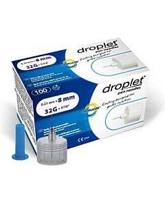 Droplet Pen Needle 32g (0.23mm) X 8mm . Part No. 8312 (100/box)