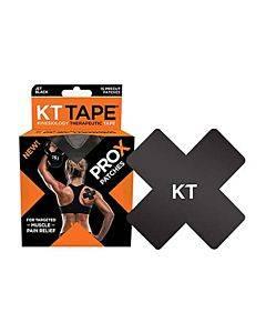 """Kt Tape Pro X, 4"""" X 4"""", Black Part No. 400578-5 (15/box)"""