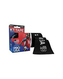 """Kt Synthetic Tape Team Usa Pro, Black, 20 2"""" X 10"""" Strips Part No. 902024-6 (20/box)"""