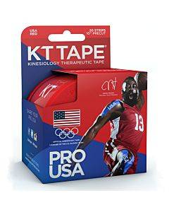 """Kt Synthetic Tape Team Usa Pro, Red, 20 2"""" X 10"""" Strips Part No. 902026-0 (20/box)"""