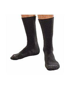 Smartknit Seamless Diabetic Crew Socks With X-static Latex-free Materials, Black, Large Part No. 71742 (1/ea)