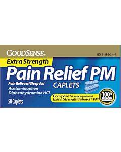Pain Relief Pm Caplet, 500 Mg Acetaminophen (50 Count) Part No. Lp13184 (50/box)
