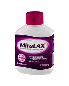 Miralax Laxative, Powder For Solution, 17.9 Oz Part No. 0-41100-82071-6 (1/ea)