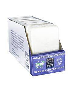 One With Nature Naked Soap - Goat's Milk And Lavender - Case Of 6 - 4 Oz.