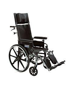 "Viper Plus Gt Full Reclining Wheelchair, Detachable Desk Arms, 20"" Seat"