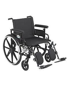 """Viper Plus Gt Wheelchair With Flip Back Removable Adjustable Full Arms, Elevating Leg Rests, 22"""" Seat"""