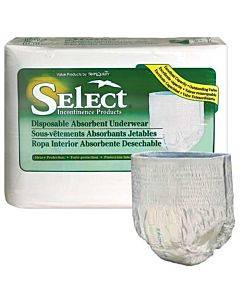 Select Disposable Heavy Protection Youth Underwear 38 - 65 Lbs Part No. 2602 (12/package)