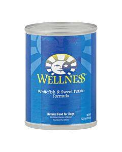 Wellness Pet Products Dog Food - Whitefish And Sweet Potato Recipe - Case Of 12 - 12.5 Oz.