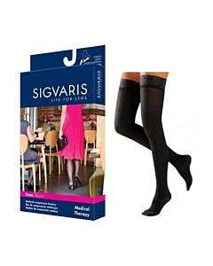 783n Style Sheer Thigh, 30-40mmhg, Women's, Medium, Long, Black Part No. 783nmlw99 (2/package)