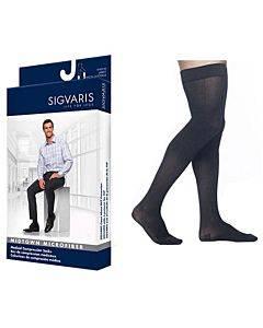 822n Style Microfiber Thigh, 20-30mmhg, Men's, Medium, Long, Black Part No. 822nmlm99 (1/ea)