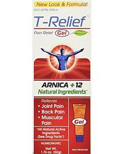 T-relief - Pain Relief Gel - Arnica + 12 Natural Ingredients - 1.76 Oz
