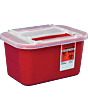 Devon Sharps Container With Clear Lid 1 Gallon Part No. 31143699 (32/case)
