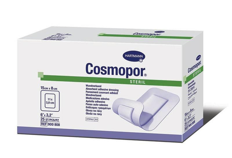 """Cosmopore Sterile  6"""" x 3.2"""" Part No. 900808 Qty  Per Box"""