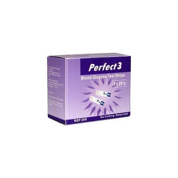 Perfect 3 Test Strip (50 count) Part No. DIA-3888 Qty  Per Box