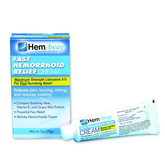 Hemaway Fast Relief Hemorrhoid Cream Part No. Tc1 (1/ea)