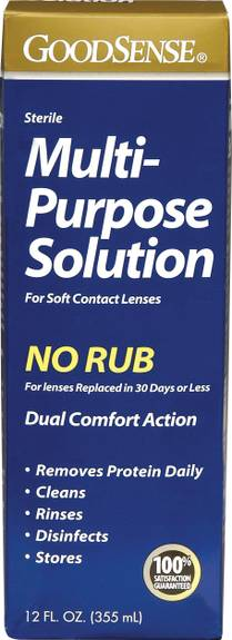 Multi-Purpose Saline Solution for Soft Contact Lenses, 12 oz. (1/EA)
