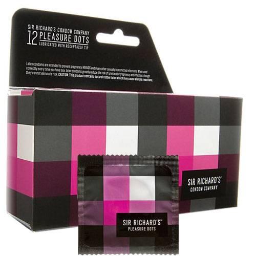 Sir Richard's Pleasure Dots Condoms Part No. 119456 Qty  Per Box