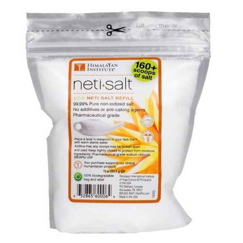 Himalayan Institute Neti Pot Salt, 10 oz Part No. 1394014 Qty 1