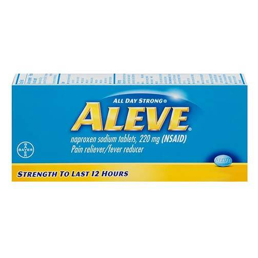 Aleve All Day Strong Pain Reliever, Fever Reducer, Caplets Part No. 3-25866-00102-3 Qty 1