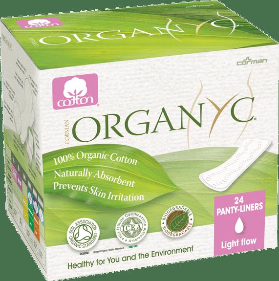 Organyc 100% Organic Cotton Panty Liners, Light Flat Part No. ORGST01 Qty 24 Per Package