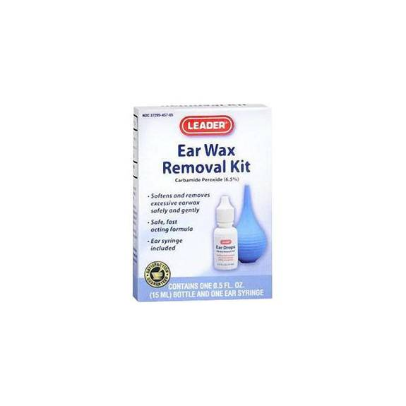 Leader Ear Wax Removal Kit, 0.5 oz. Drops and 1 Syringe Part No. 2893394 Qty 1