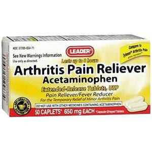Leader Arthritis Pain Relief Tablets 650 mg (50 Count) Part No. 2940625 Qty 1