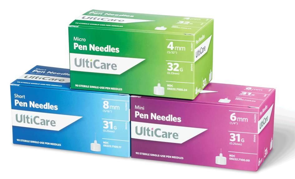 UltiCare Pen Needle 32G x 4 mm (90 count) Part No. 71002 Qty  Per Box