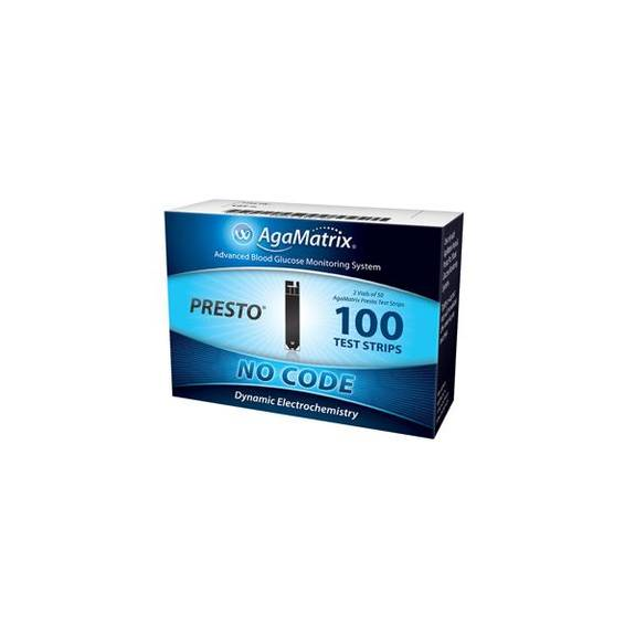 Agamatrix Presto Test Strip (100 Count) Part No. 8000-03337 (100/box)