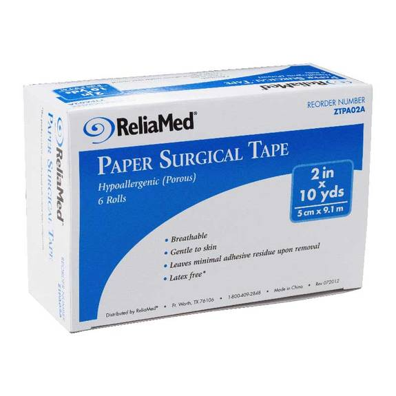 "ReliaMed Paper Surgical Tape 2"" x 10 yds. Part No. PA02 Qty 1"