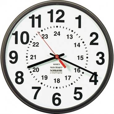 SKILCRAFT 12/24 Hour Wall Clock (EA/EACH)