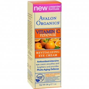 Avalon Organics Revitalizing Eye Cream Vitamin C - 1 Fl Oz