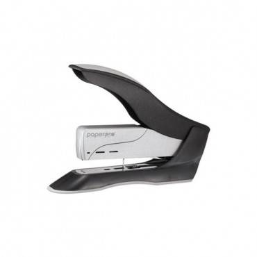 Spring-powered Premium Heavy-duty Stapler, 100-sheet Capacity, Black/silver