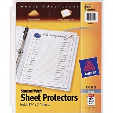 Avery® Standard Weight Sheet Protectors (PK/PACKAGE)