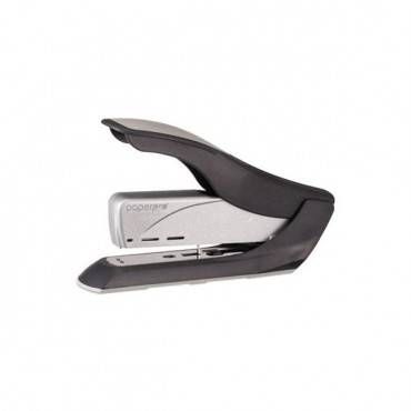 Spring-powered Premium Heavy-duty Stapler, 65-sheet Capacity, Black/silver