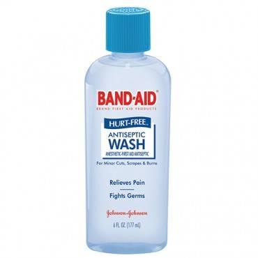 Band-aid Hurt-free Antiseptic Wash, 6 Fl Oz Part No. 004459 (1/ea)
