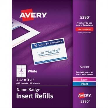 Avery® Name Badge Insert Refills (BX/BOX)