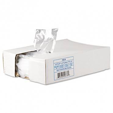 """Silverware Bags, 0.7 Mil, 3.5"""" X 1.5"""", Clear, 2,000/carton"""