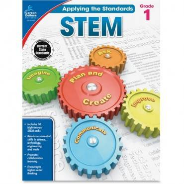Carson-Dellosa Grade 1 Applying the Standards STEM Workbook Education Printed Book for Science (EA/EACH)