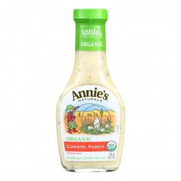 Annie's Naturals Organic Dressing Cowgirl Ranch - Case Of 6 - 8 Fl Oz.