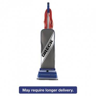 Xl Commercial Upright Vacuum,120 V, Gray/blue, 12 1/2 X 9 1/4 X 47 3/4