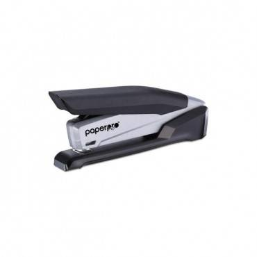 Inpower Spring-powered Premium Desktop Stapler, 28-sheet Capacity, Black/gray