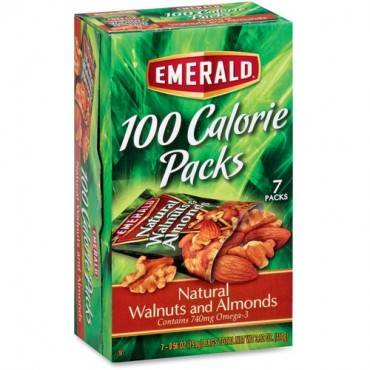 Emerald Diamond 100 Calorie Packs Natural Walnuts/Almonds (BX/BOX)