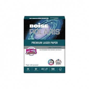 Polaris Premium Laser Paper, 98 Bright, 24lb, 8.5 X 11, White, 500/ream