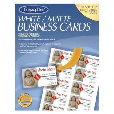Geographics Inkjet, Laser Print Business Card (PK/PACKAGE)