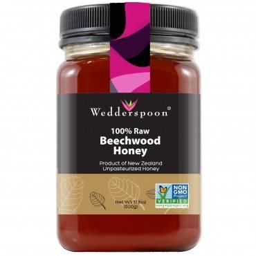 Wedderspoon Honey - Beechwood - 100 Percent Raw - 17.6 Oz